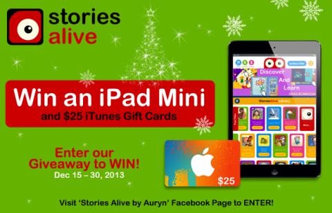 StoriesAlive iPad Mini Giveaway
